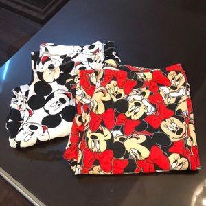 Set of 2 Women's Mickey/Minnie Disney Leggings